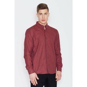 Visent Man's Shirt V010 Black-Red