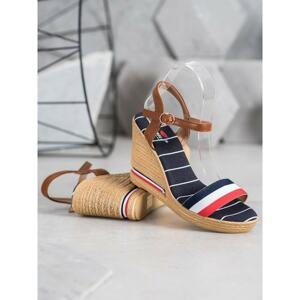 YES MILE SANDALS WITH COLORED STRIPES