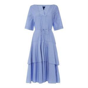 Gant Pinstripe Midi Dress