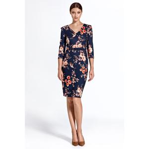Colett Woman's Dress Cs28 Pattern Navy Blue
