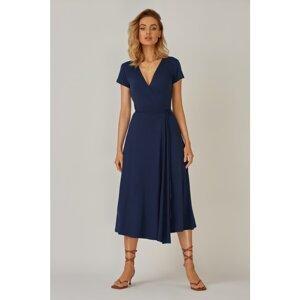 Kolorli Woman's Dress Flora Long Navy Blue