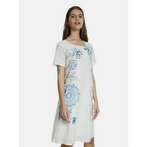 Biele vzorované šaty Desigual