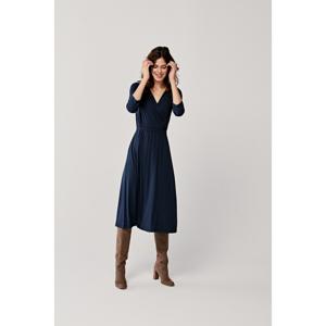 Marie Zélie Woman's Dress Rita Navy Blue