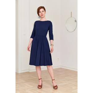 Marie Zélie Woman's Dress Limosa Navy Blue