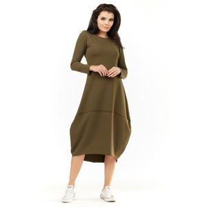 Awama Woman's Dress A209 Khaki