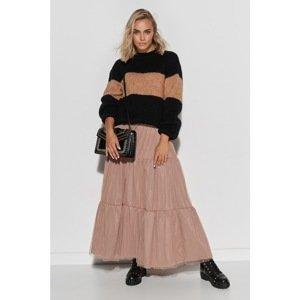 Makadamia Woman's Sweater S102 Black/Camel