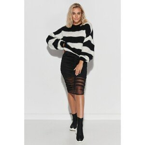 Makadamia Woman's Sweater S106 Black/Ecru