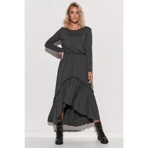 Makadamia Woman's Dress M573  Melange