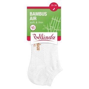 Bellinda Women's ankle socks BAMBUS AIR LADIES IN-SHOE SOCKS - Short women's bamboo socks - white