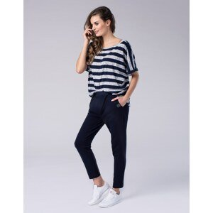 Look Made With Love Woman's Trousers 415 Boyfriend Navy Blue