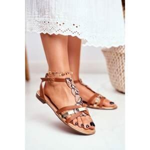 Women's Sandals Elegant Brown Snake Brooke