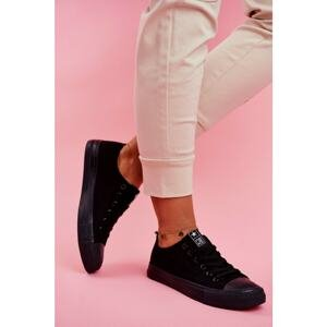Women's Sneakers Low Material Black Ecoma