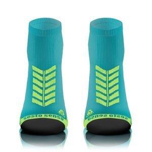 Sesto Senso Unisex's Short Sport Socks Turquoise