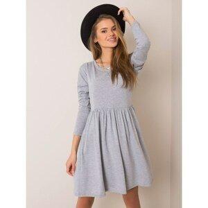 RUE PARIS Gray melange dress