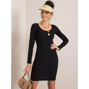RUE PARIS Black striped dress