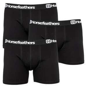3PACK men's boxers Horsefeathers black (AM067A)