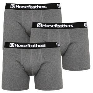 3PACK men's boxers Horsefeathers Dynasty heather anthracite (AM067B)