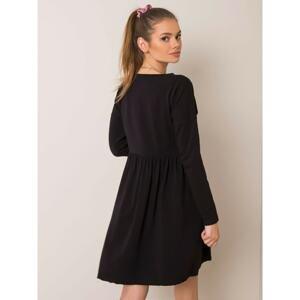 RUE PARIS Black melange dress