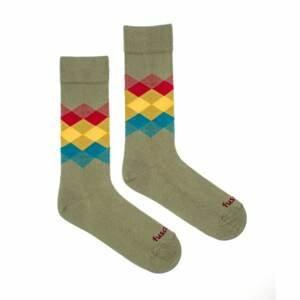 Merry socks Fusakle rhombus forest (--0807)