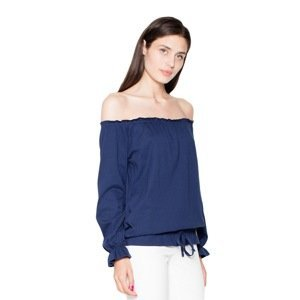 Venaton Woman's Blouse VT012 Navy Blue