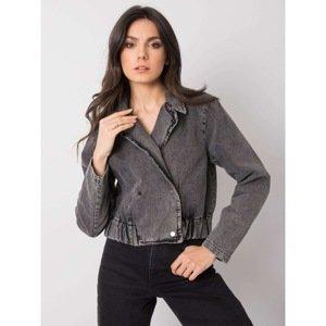Dark gray women's Darlene RUE PARIS denim jacket