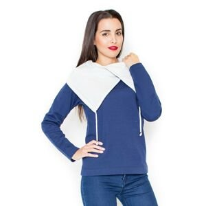 Katrus Woman's Hoodie K140 Navy Blue