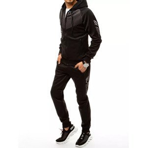 Black men's tracksuit with the Dstreet AXX0359 print