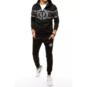 Black men's tracksuit with the Dstreet AXX0357 print