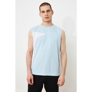 Trendyol Blue Men's Regular Fit Undershirt