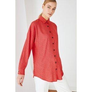 Trendyol Red Shirt Collar Tunic