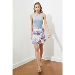 Trendyol Lilac Ruffled Lace Detailed Skirt
