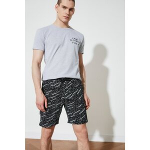 Trendyol Black Men's Regular Fit Printed Shorts & Bermuda