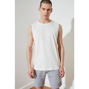 Trendyol Ecru Men's Regular Fit Crew Neck Zero Sleeve Connected Undershirt
