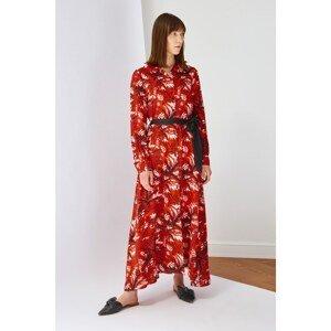 Trendyol Multi Color Waist Belted Shirt Dress