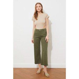 Trendyol Khaki High Waist Culotte Jeans