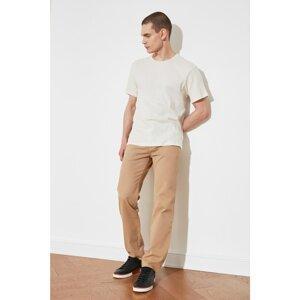 Trendyol Beige Men's Belt Waist Trousers