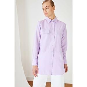 Trendyol Lilac Shirt Collar Tunic