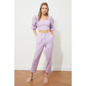 Trendyol Lilac Straight Cut Trousers