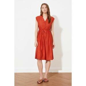 Trendyol Tile Waist Gathered Dress