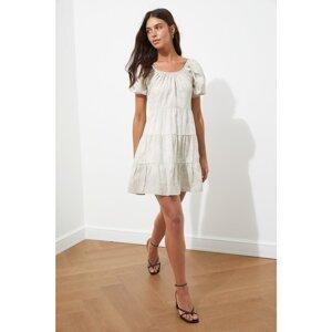 Trendyol Stone Flywheel Patterned Dress