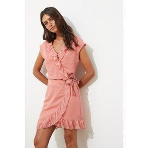 Trendyol Dried Rose Ruffle Skirt