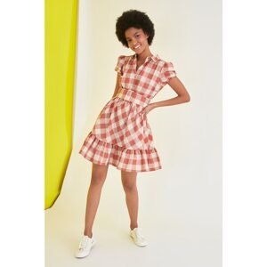 Trendyol Multicolored Belted Checkered Dress
