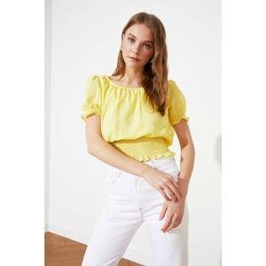 Trendyol Yellow Crop Blouse