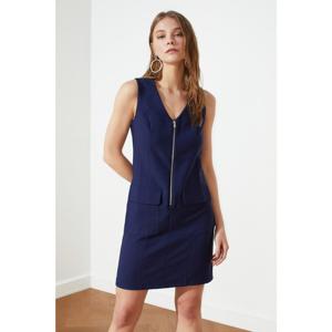 Trendyol Navy Blue Zippered Pocket Detailed Dress