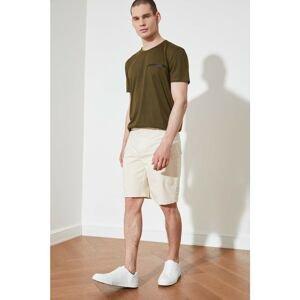 Trendyol Ecru Men's Double Flap Pocket Shorts & Bermuda