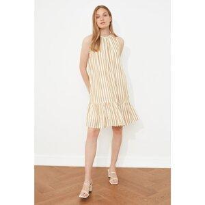 Trendyol Mustard Striped Dress