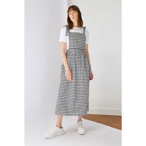Trendyol Black Strappy Bow Detailed Gilet Dress