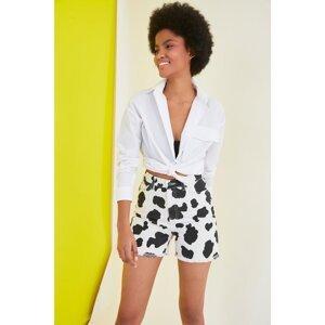 Trendyol Multicolored Printed Denim Shorts