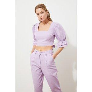 Trendyol Lilac Crop Blouse