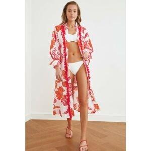Dámske kimono Trendyol Floral patterned